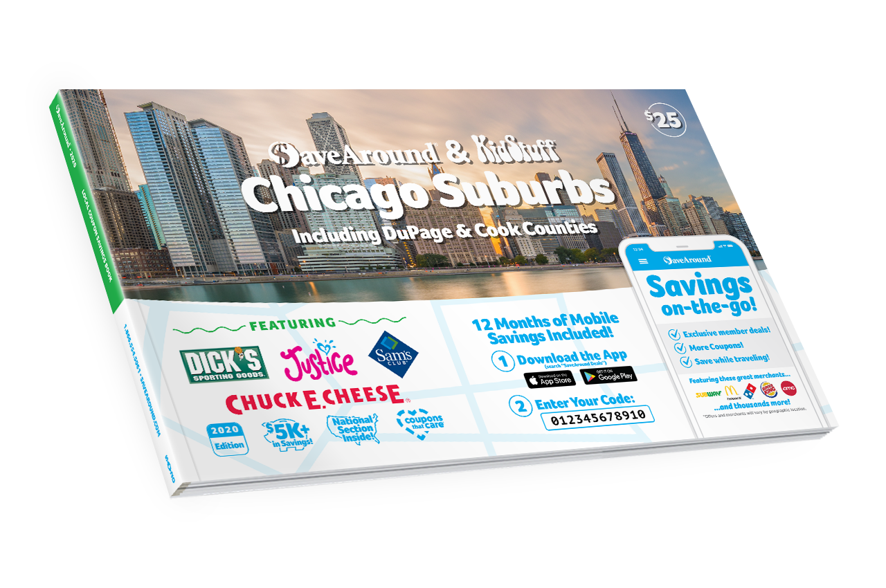 Chicago Suburbs, IL 2020 SaveAround® Coupon Book
