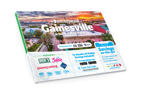 Gainesville & Surrounding Areas, FL 2020 SaveAround<sup>®</sup> Coupon Book