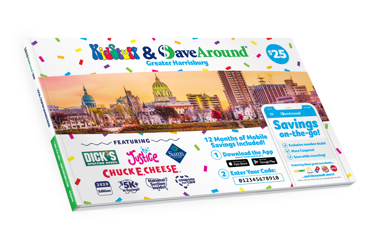 Greater Harrisburg, PA 2020 SaveAround® Coupon Book