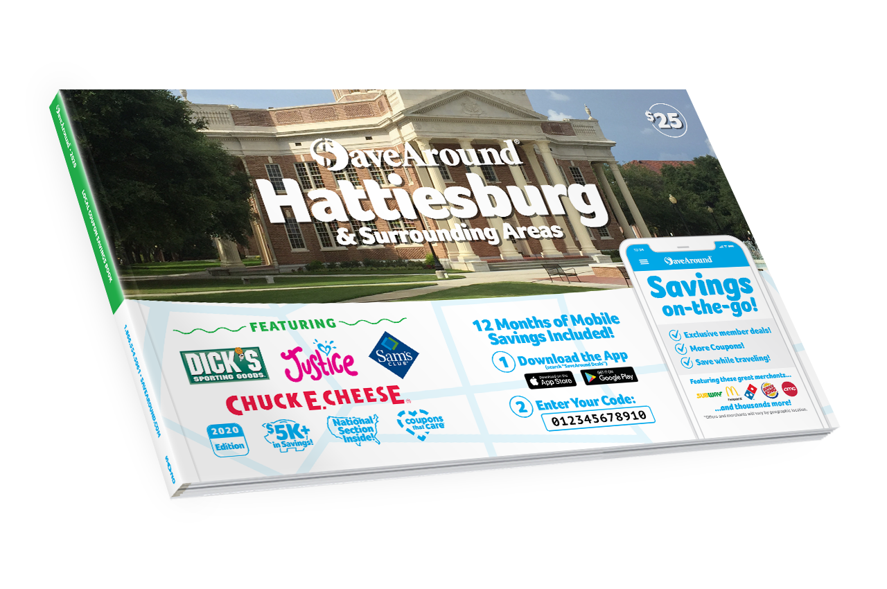 Hattiesburg & Surrounding Areas, MS 2020 SaveAround® Coupon Book