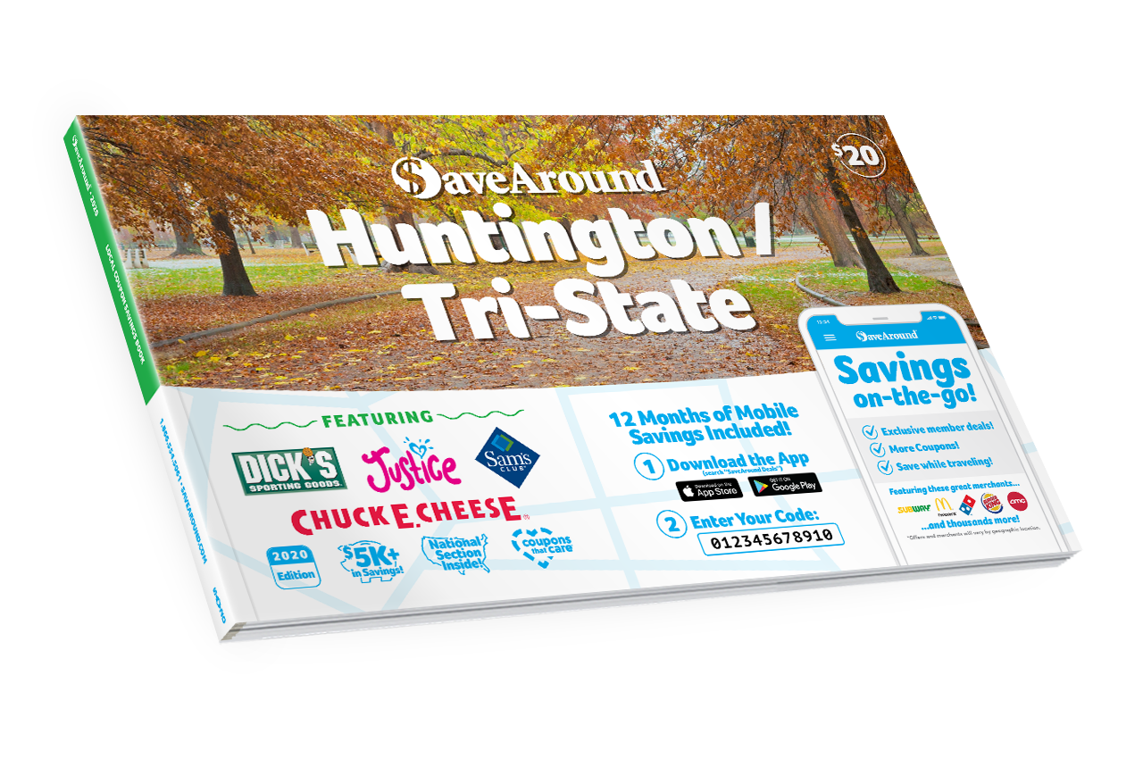 Huntington / Tri-State, WV 2020 SaveAround<sup>®</sup> Coupon Book