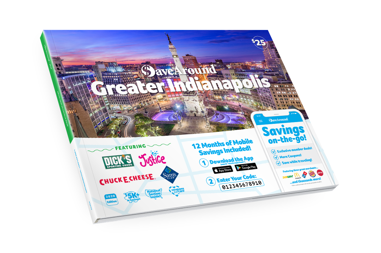Greater Indianapolis, IN 2020 SaveAround® Coupon Book