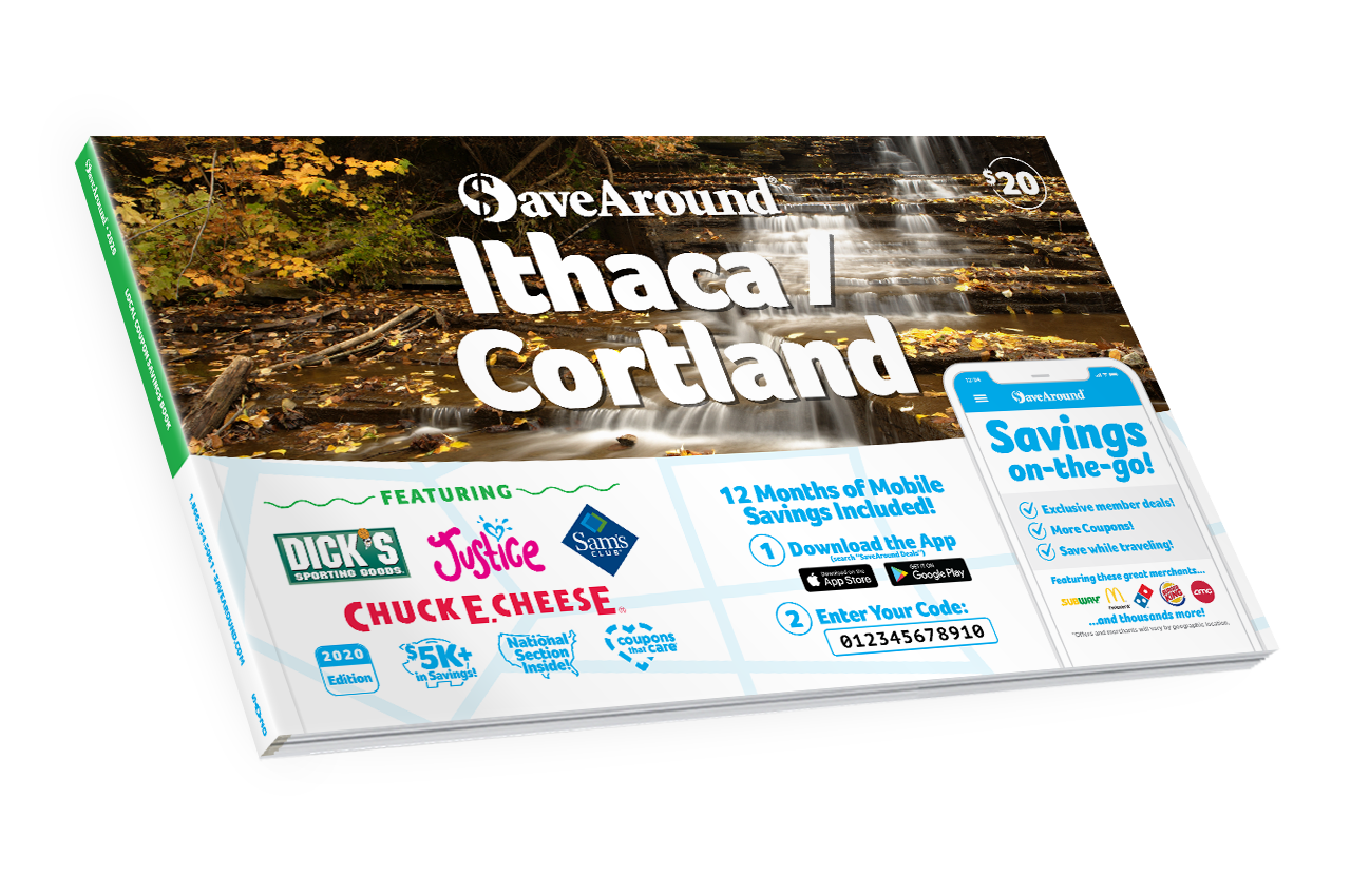Ithaca / Cortland, NY 2020 SaveAround® Coupon Book