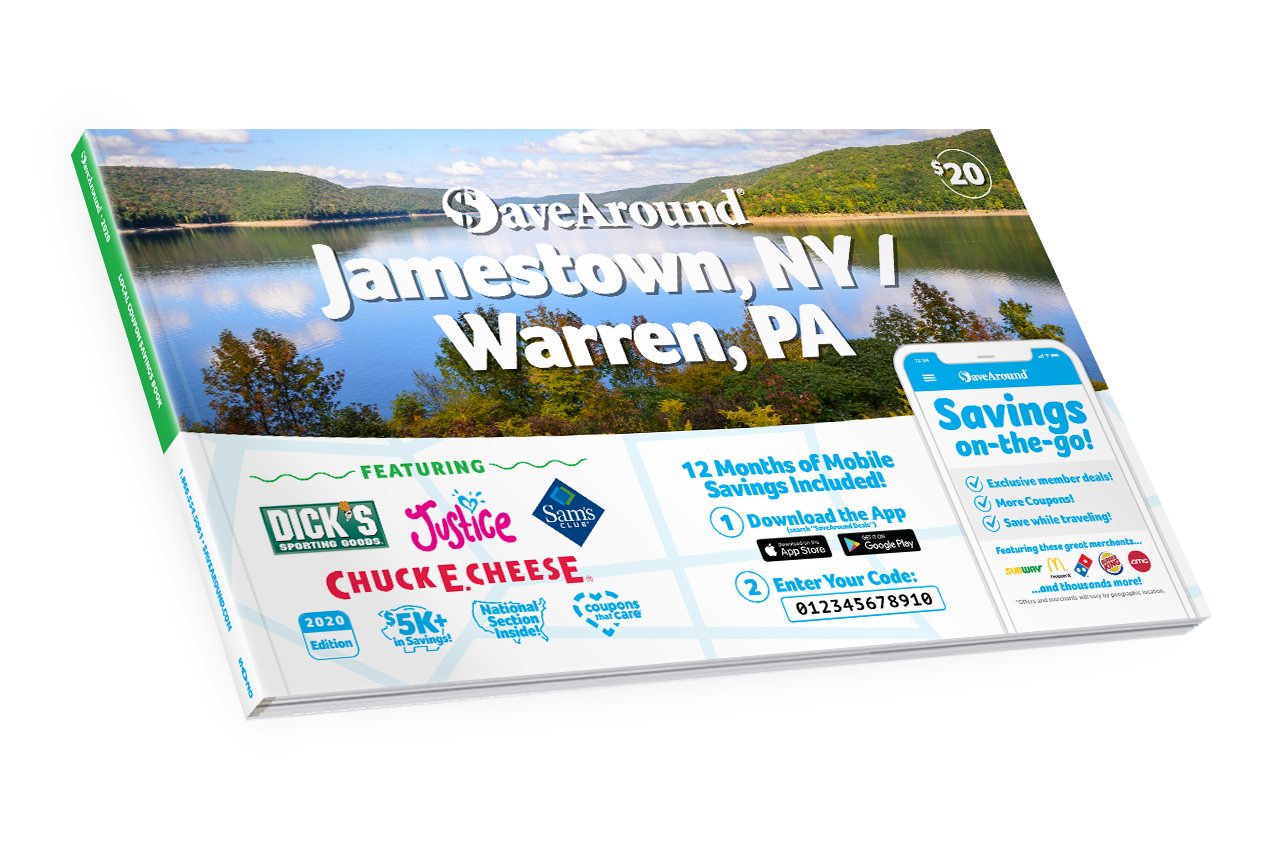 Jamestown, NY / Warren, PA 2020 SaveAround® Coupon Book