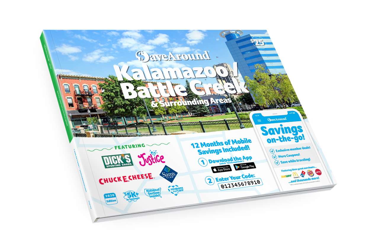 Kalamazoo / Battle Creek, MI 2020 SaveAround® Coupon Book