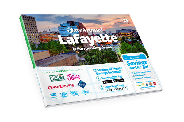 Lafayette & Surrounding Areas, LA 2020 SaveAround<sup>®</sup> Coupon Book