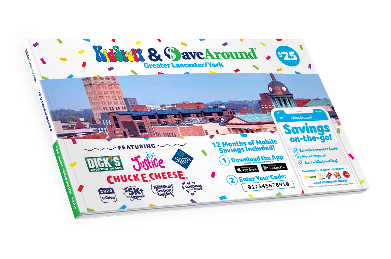 Greater Lancaster / York, PA 2020 SaveAround<sup>®</sup> Coupon Book