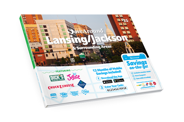 Lansing/Jackson & Surrounding Areas, MI 2020 SaveAround<sup>®</sup> Coupon Book
