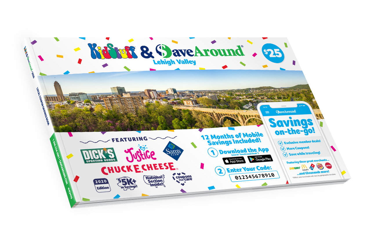 Lehigh Valley, PA 2020 SaveAround® Coupon Book