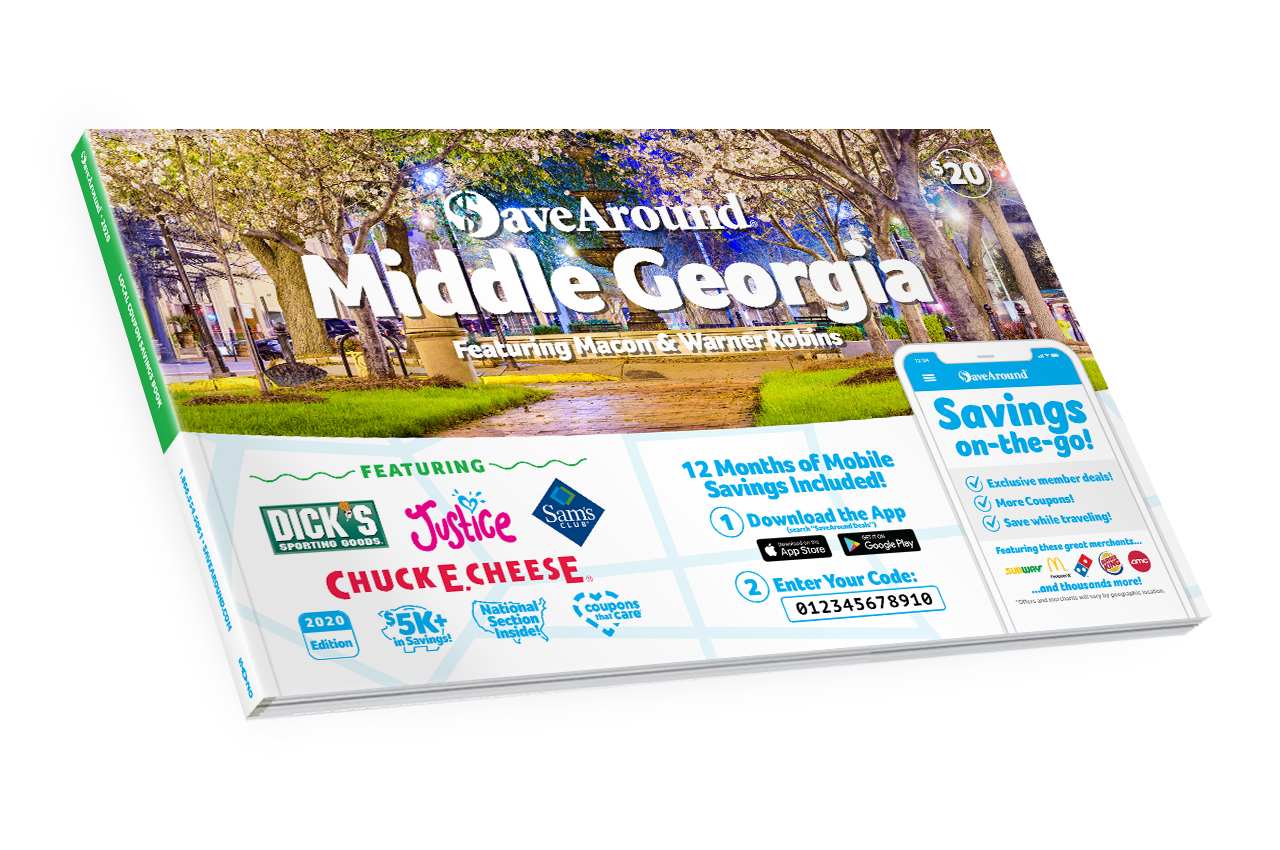 Middle Georgia, GA 2020 SaveAround® Coupon Book