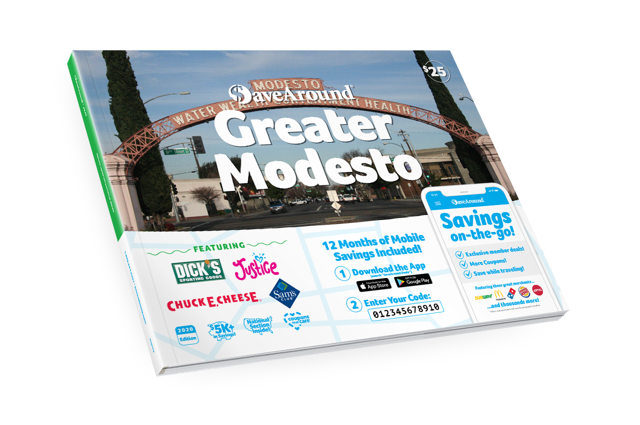 Greater Modesto, CA 2020 SaveAround<sup>®</sup> Coupon Book
