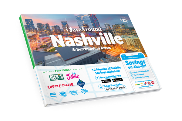 Nashville & Surrounding Areas, TN 2020 SaveAround<sup>®</sup> Coupon Book