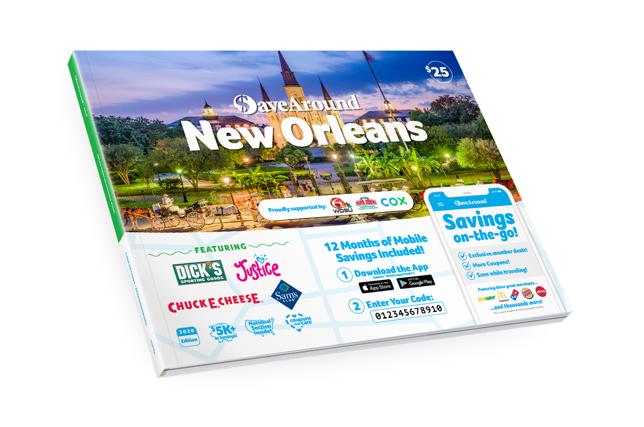 New Orleans Coupons >> New Orleans La 2020 Savearound Coupon Book
