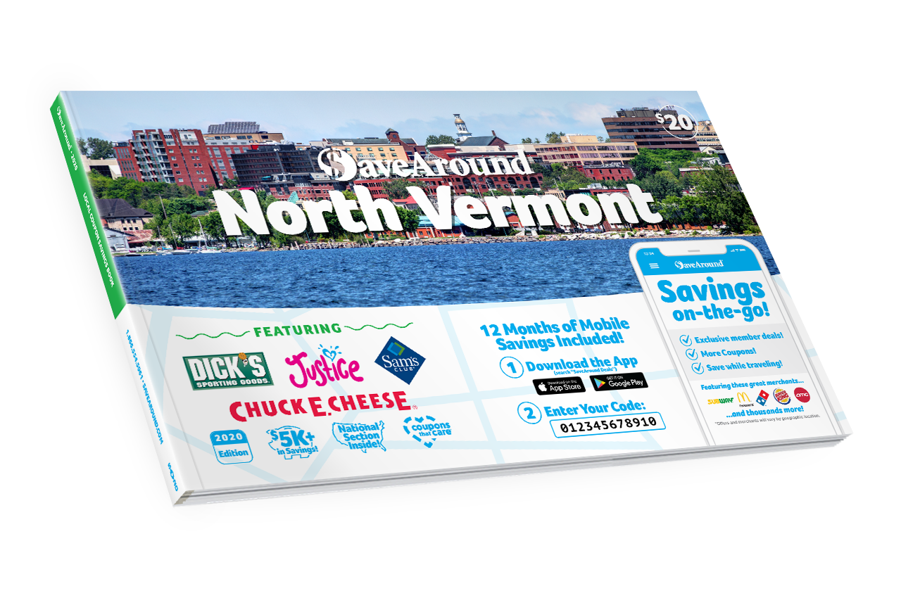 North Vermont 2020 SaveAround® Coupon Book