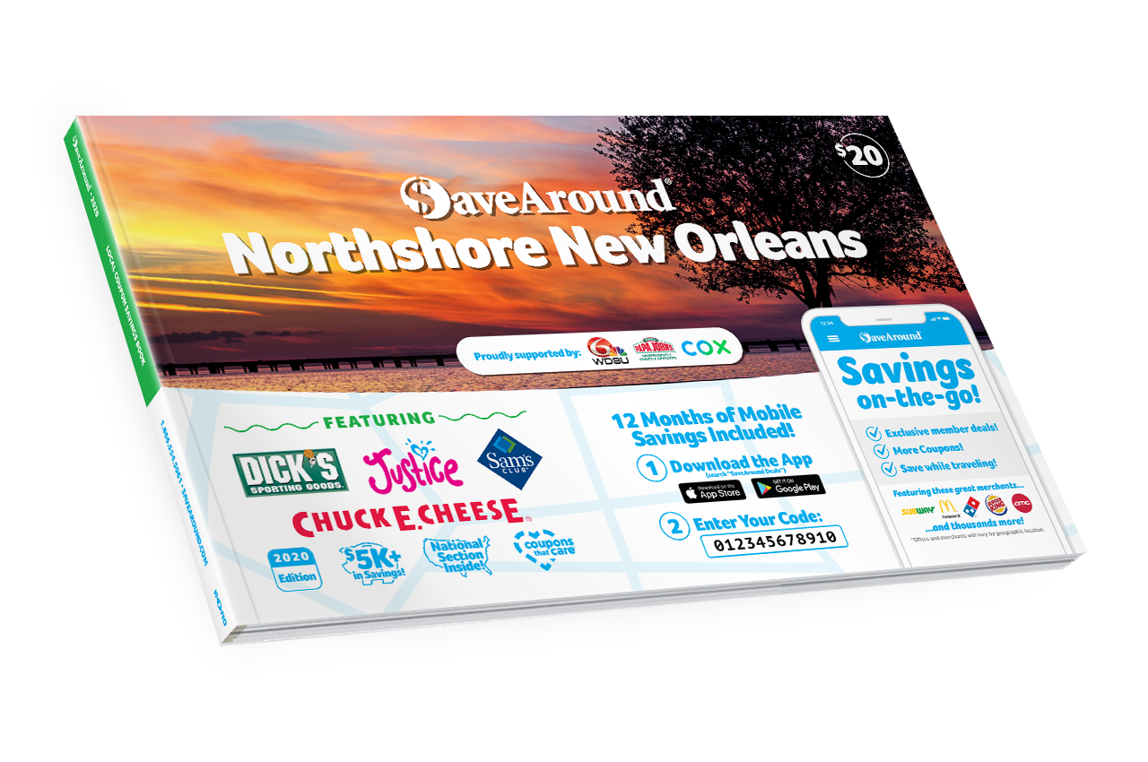 New Orleans Coupons >> Northshore New Orleans La 2020 Savearound Coupon Book