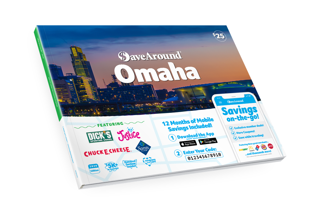 Omaha, NE 2020 SaveAround® Coupon Book