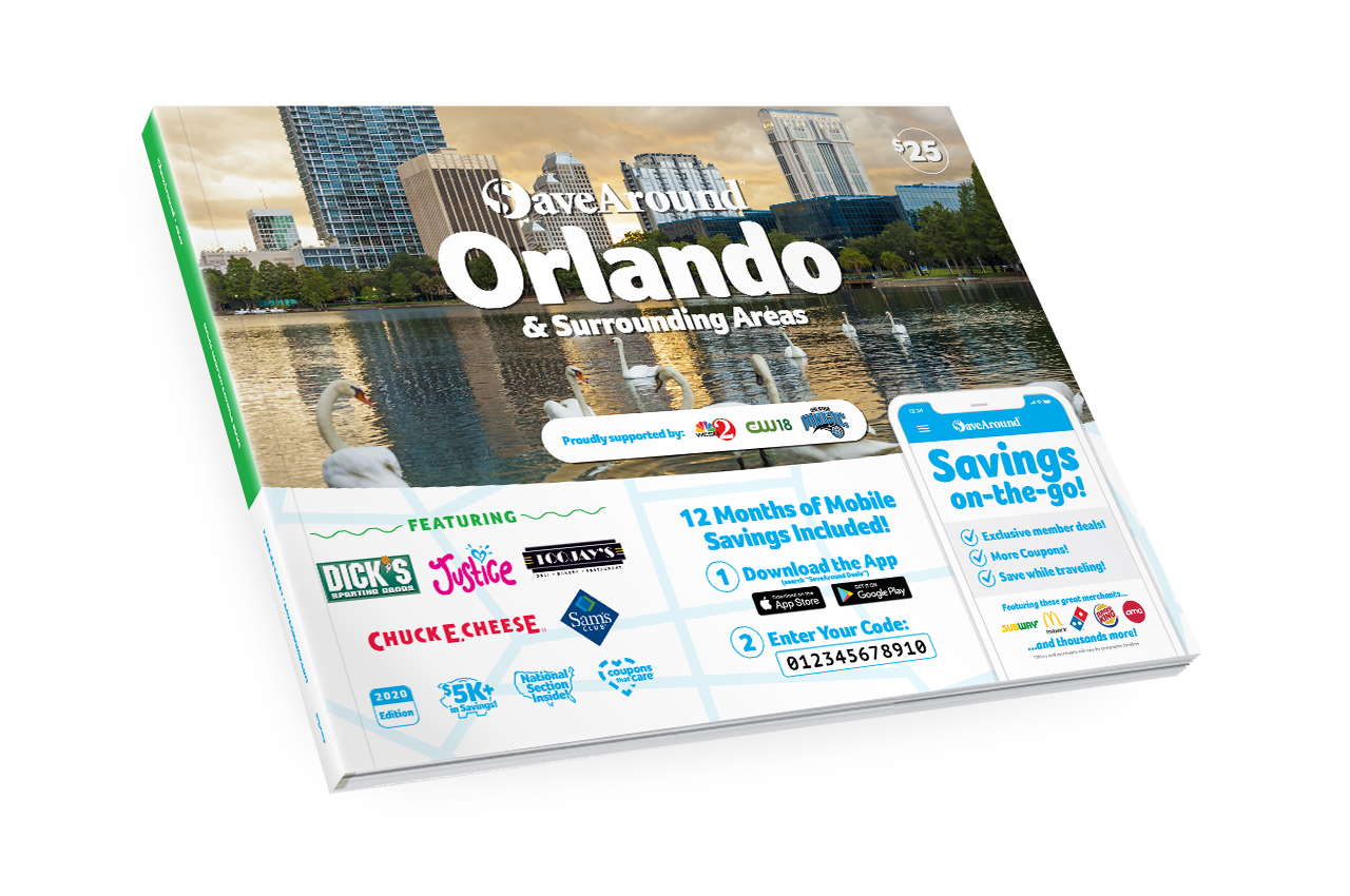 Orlando & Surrounding Areas, FL 2020 SaveAround® Coupon Book