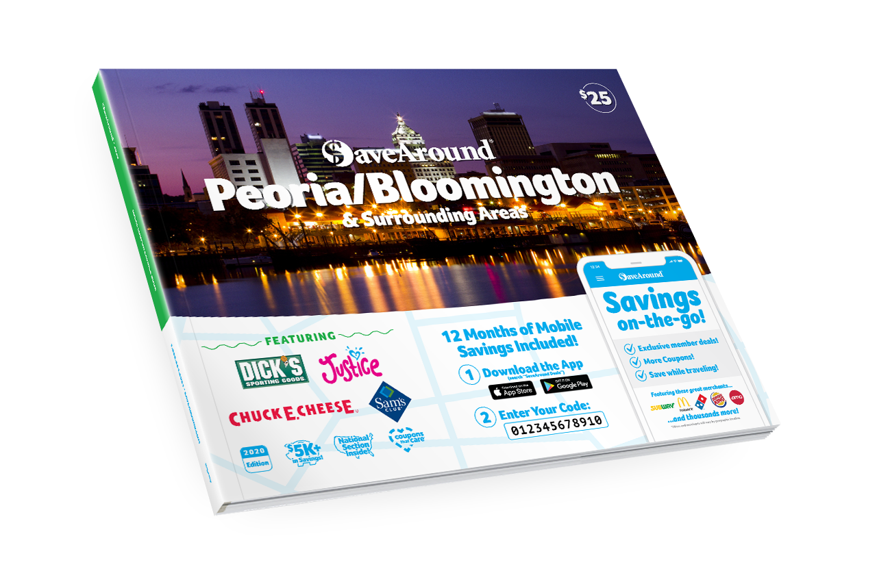 Peoria/Bloomington & Surr. Areas, IL 2020 SaveAround® Coupon Book