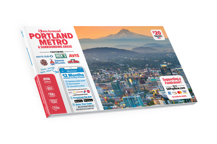 Portland Metro & Surrounding Areas SaveAround® Coupon Book