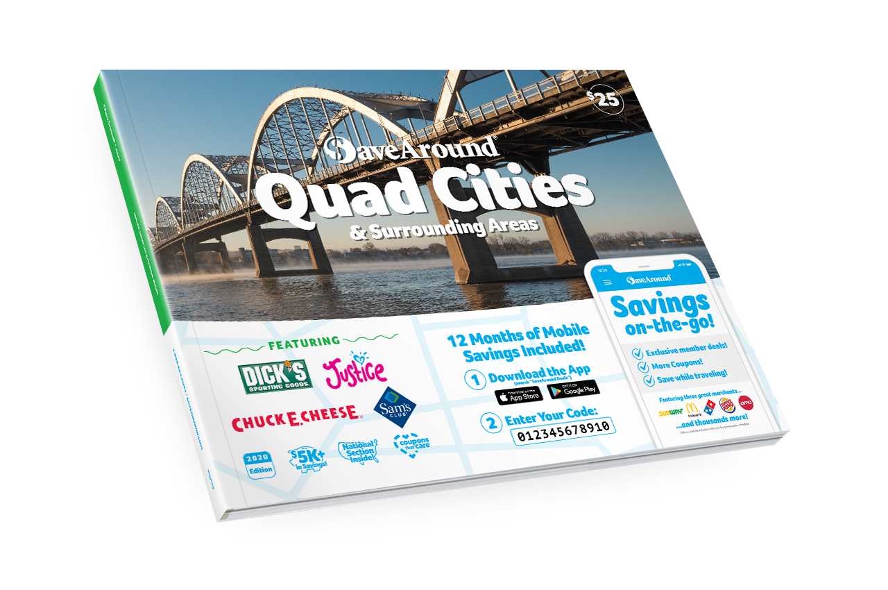Quad Cities & Surrounding Areas, IA 2020 SaveAround<sup>®</sup> Coupon Book