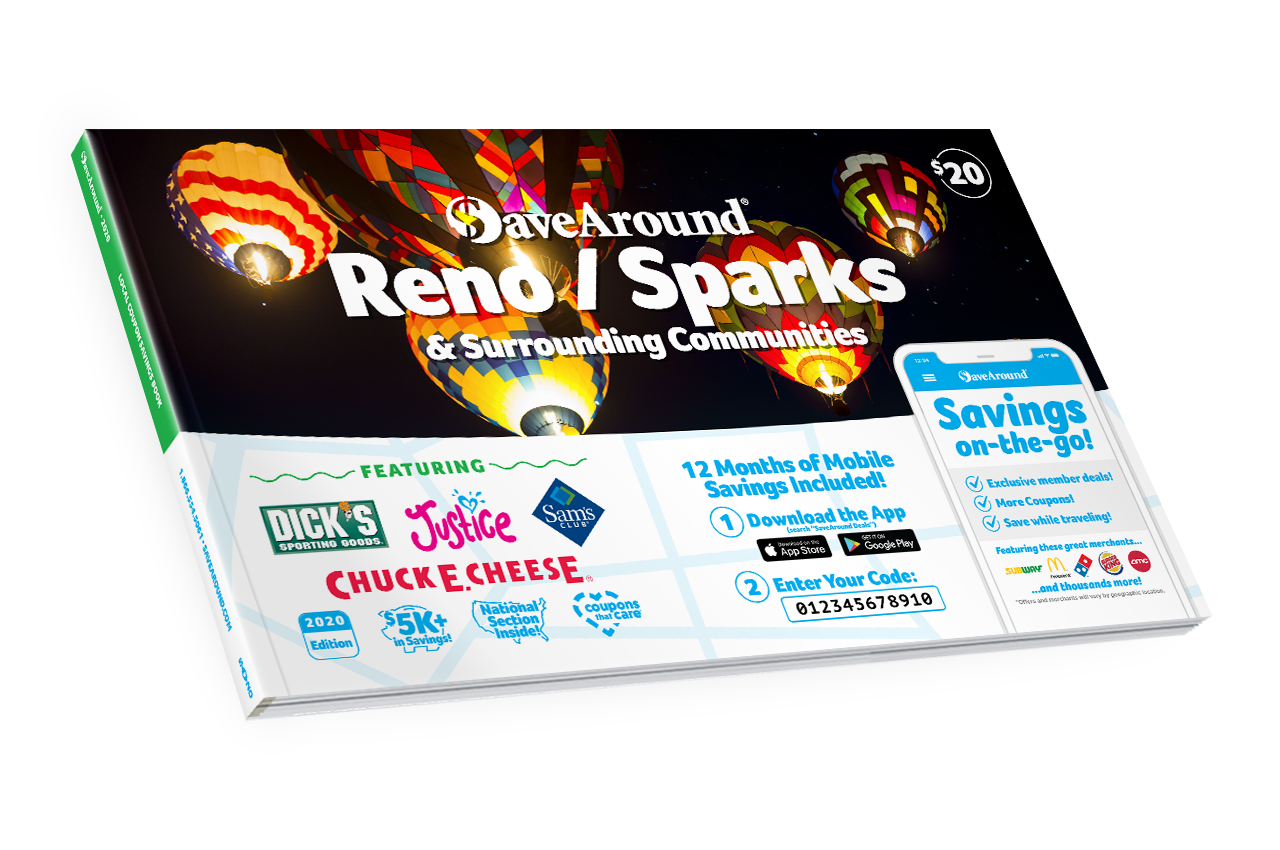 Reno/Sparks, NV 2020 SaveAround<sup>®</sup> Coupon Book