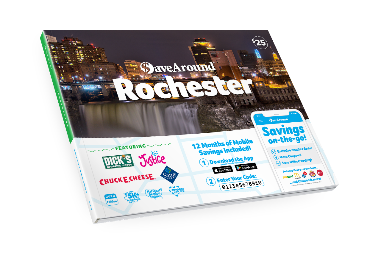 Rochester, NY 2020 SaveAround<sup>®</sup> Coupon Book