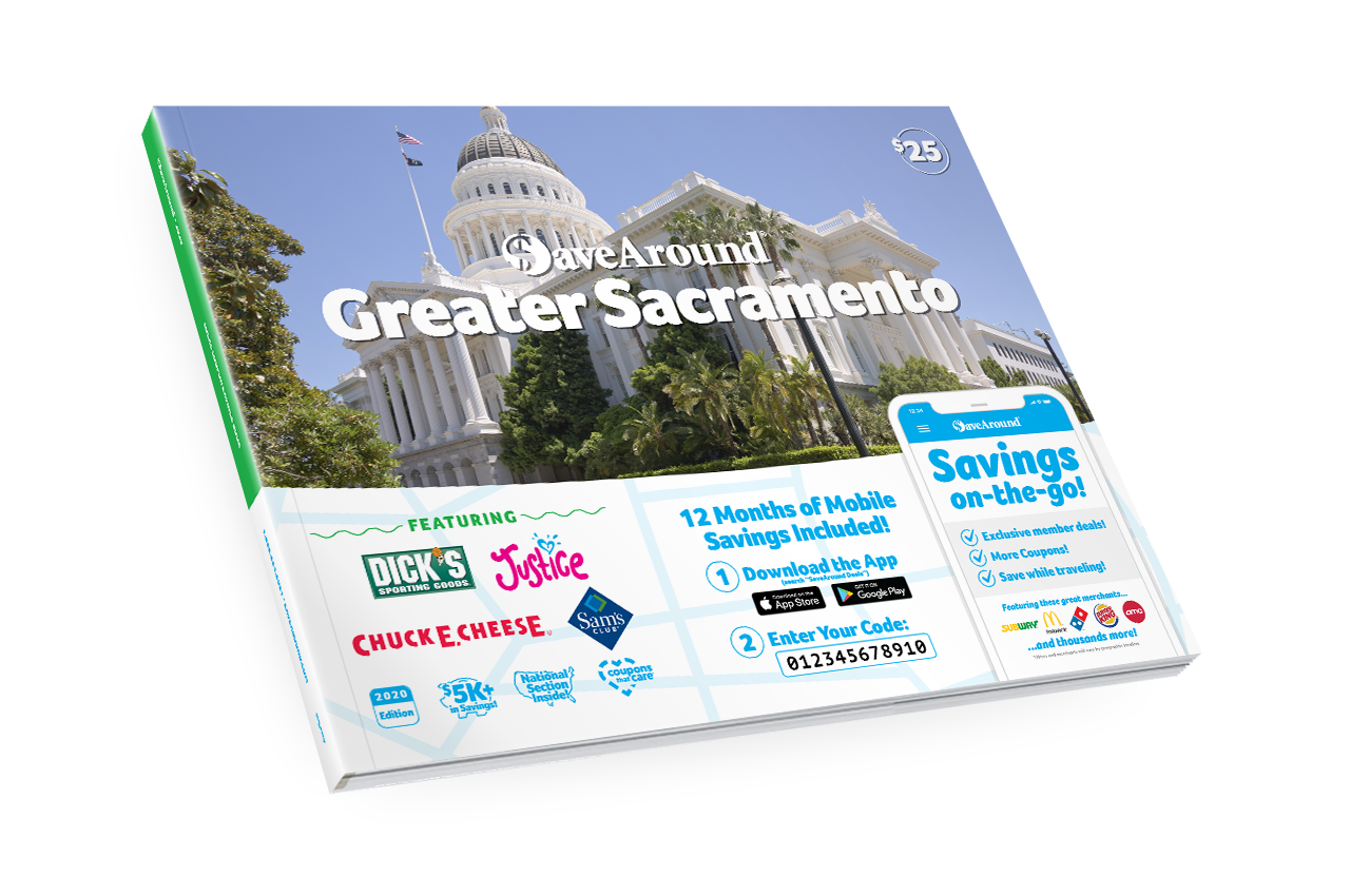 Greater Sacramento, CA 2020 SaveAround<sup>®</sup> Coupon Book