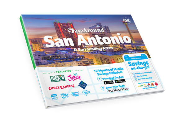 San Antonio & Surrounding Areas, TX 2020 SaveAround<sup>®</sup> Coupon Book
