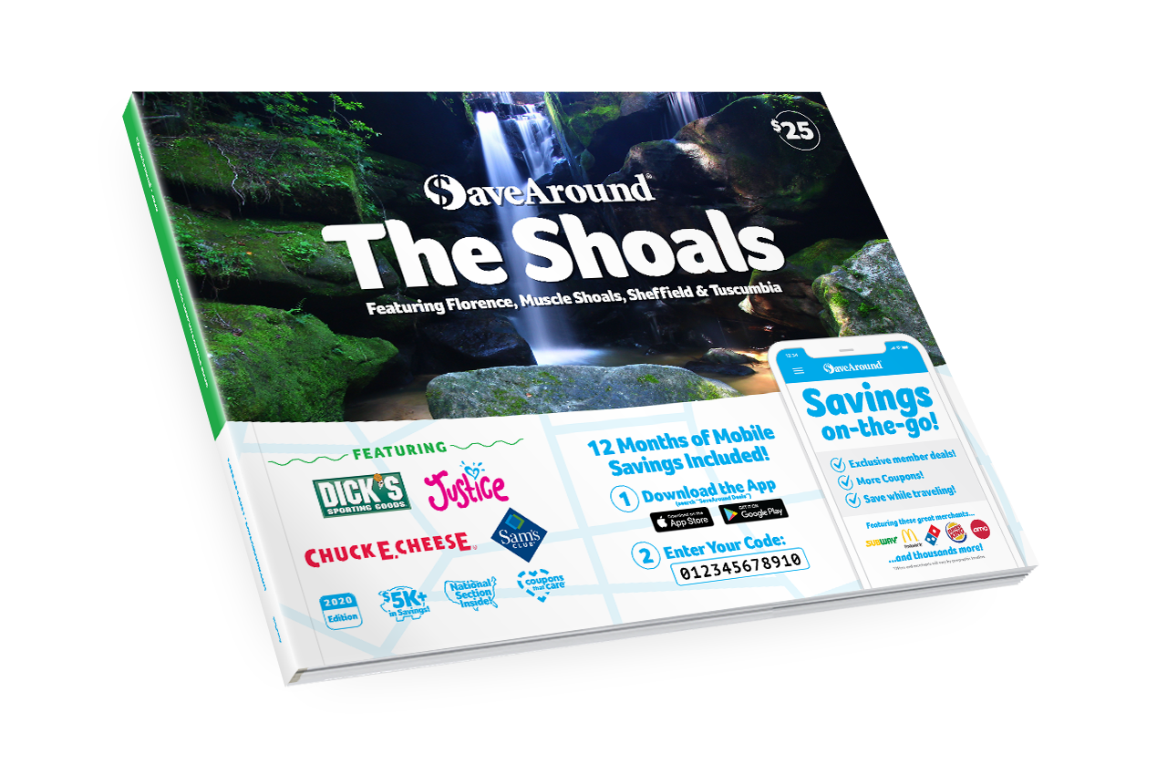 The Shoals, AL 2020 SaveAround<sup>®</sup> Coupon Book