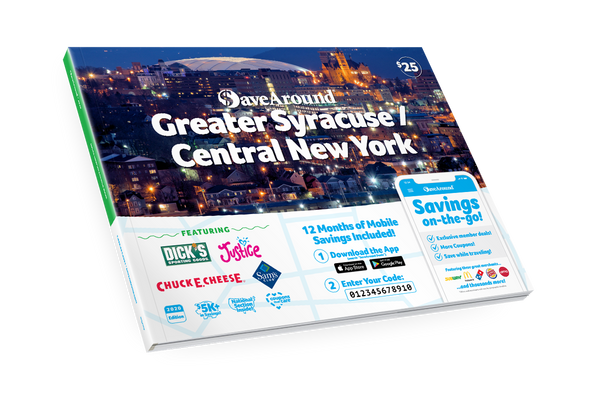 Greater Syracuse / Central New York, NY 2020 SaveAround<sup>®</sup> Coupon Book