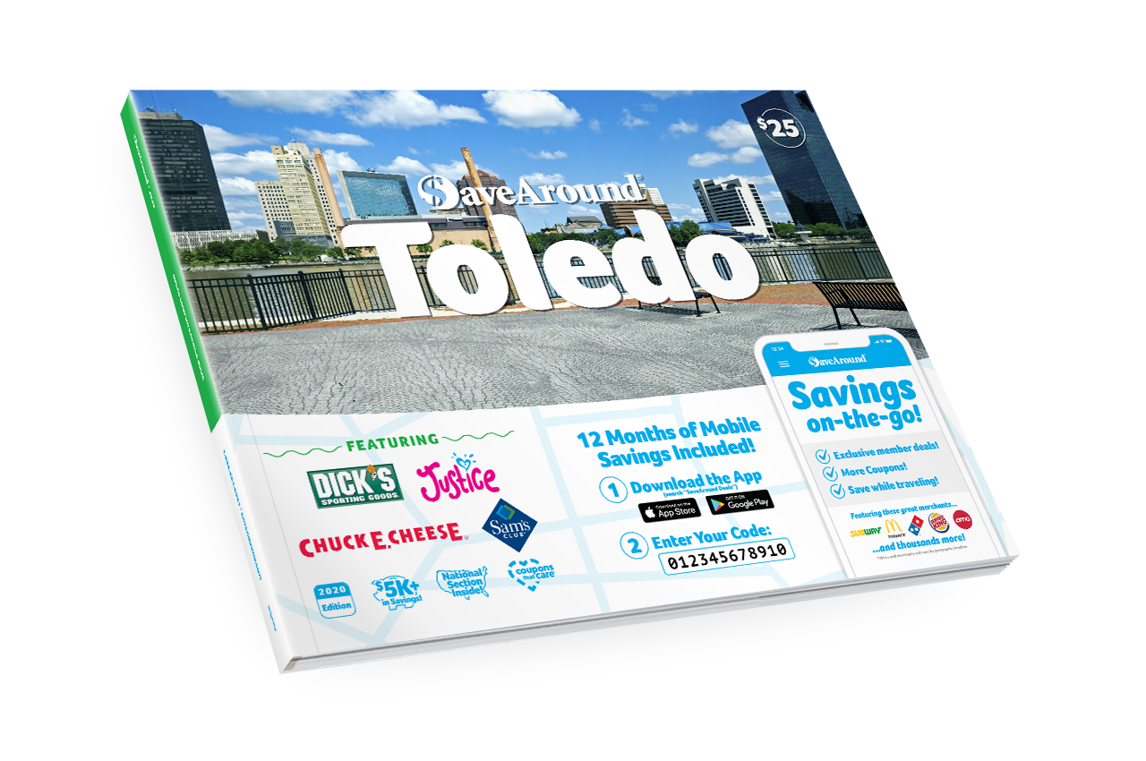 Toledo, OH 2020 SaveAround<sup>®</sup> Coupon Book
