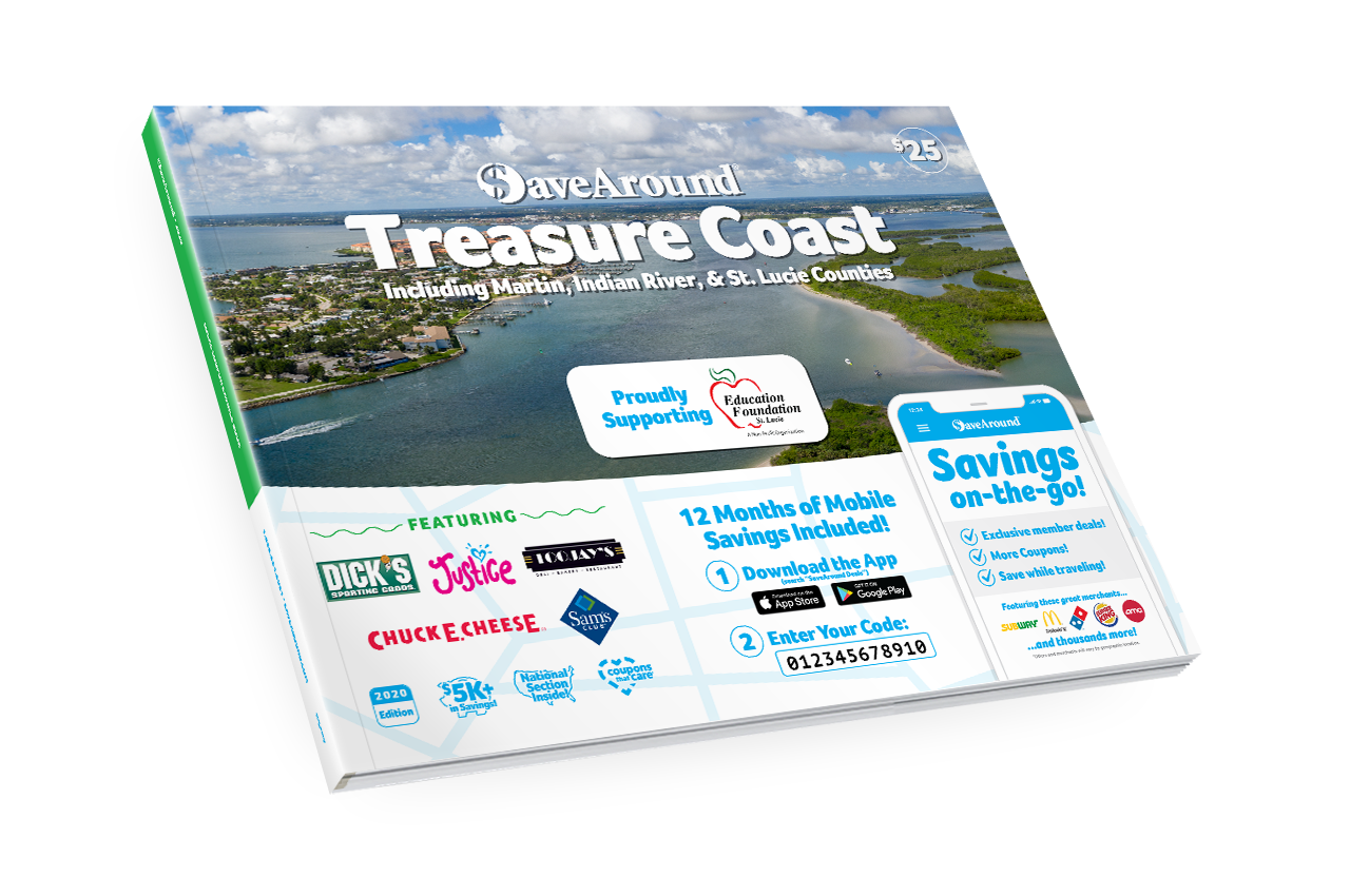 Treasure Coast, FL 2020 SaveAround® Coupon Book