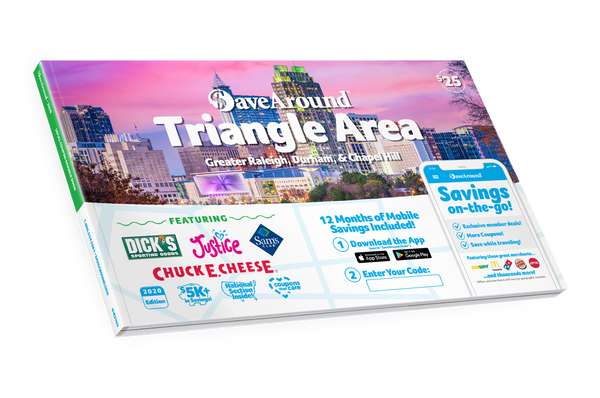 Triangle Area, NC 2020 SaveAround<sup>®</sup> Coupon Book