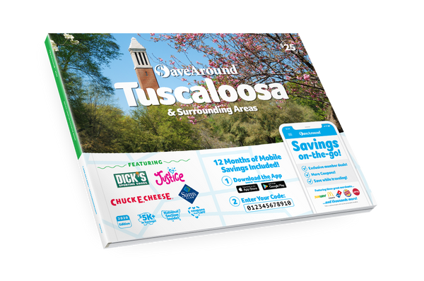 Tuscaloosa & Surrounding Areas, AL 2020 SaveAround<sup>®</sup> Coupon Book