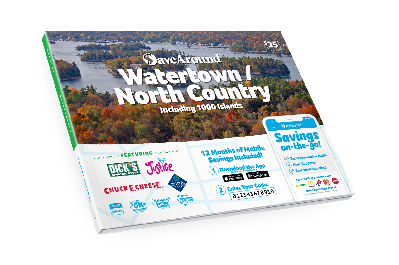 Watertown / North Country, NY 2020 SaveAround® Coupon Book