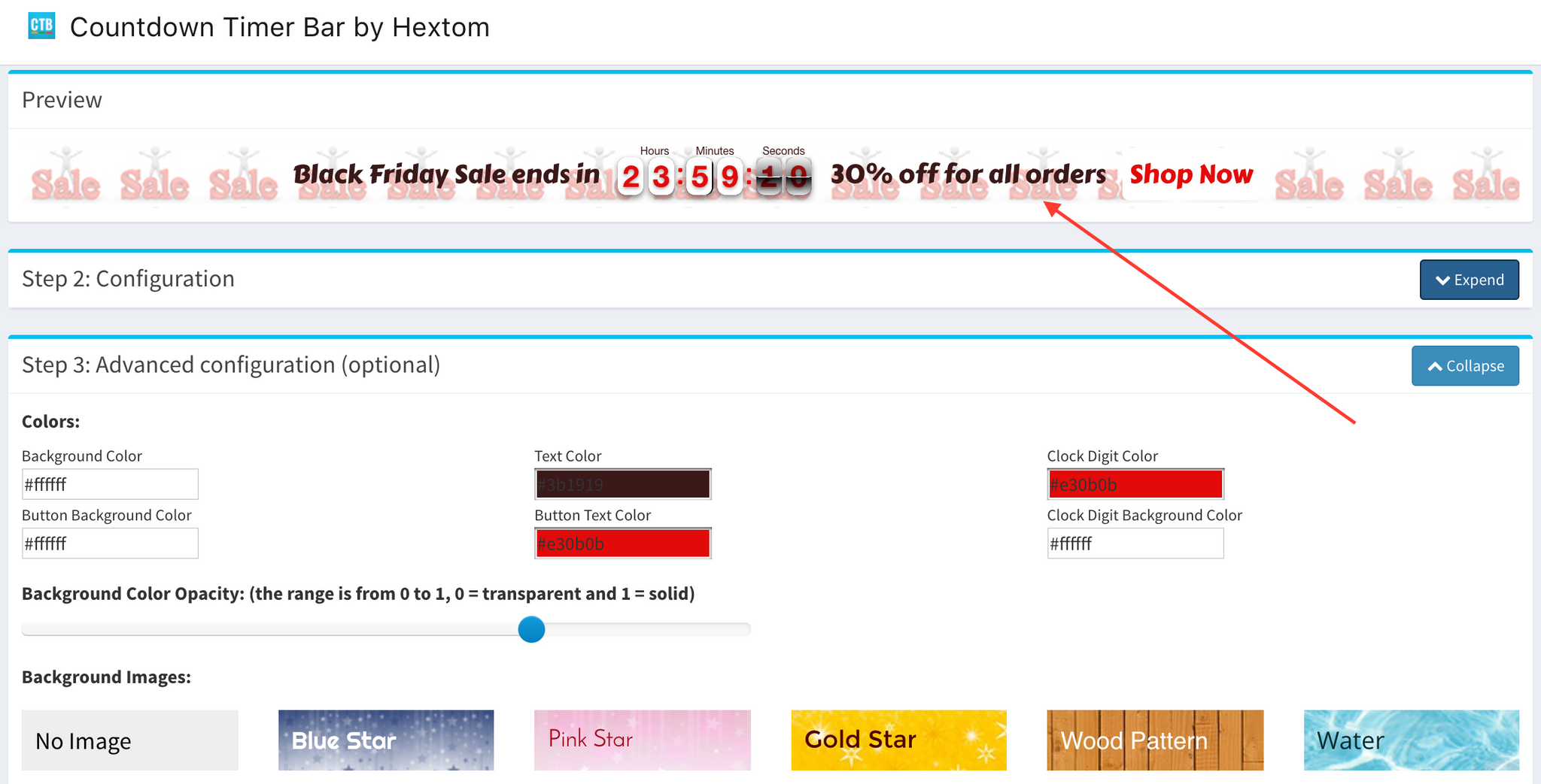 Shopify App - Countdown Timer Bar by Hextom - Holiday Themes