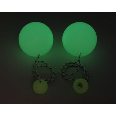 PLAY JUGGLING PELOTAS CONTACT POI GLOW IN THE DARK 90 MM