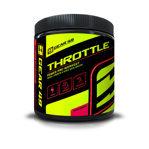 THROTTLE Power Pre-workout - Gear 49 | MotorSports Nutrition