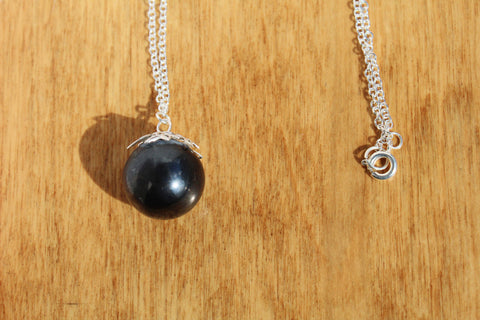Hematite Orb Necklace