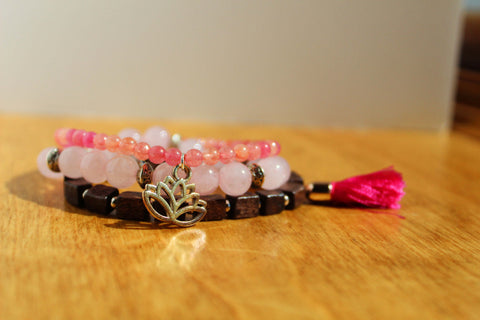Rose Quartz Bracelet Stack