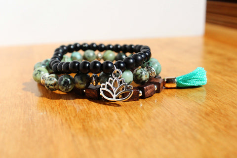 African Turquoise Bracelet Stack