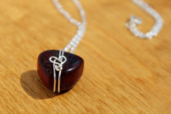 Red Tiger's Eye Stone Necklace