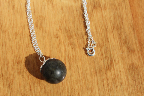 Labradorite Orb Necklace