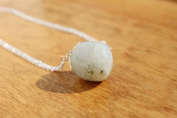 Moonstone Orb Necklace