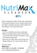 Load image into Gallery viewer, NutriMax Hide and Hair Cleanser - 1 Quart