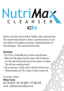 NutriMax Hide and Hair Cleanser - 1 Quart