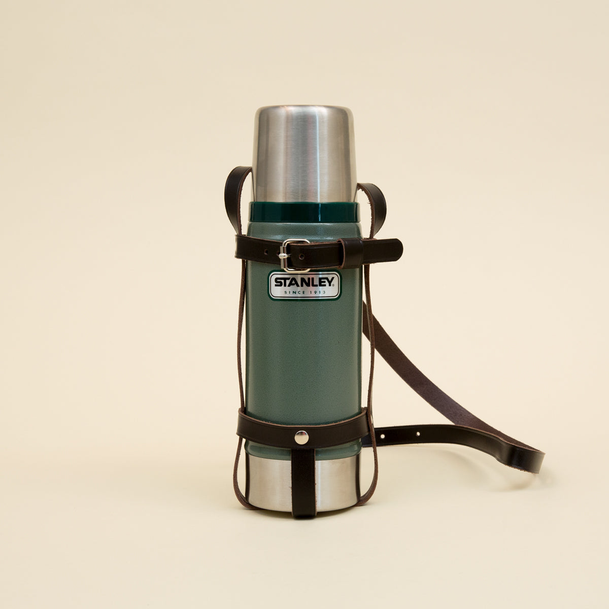 Thermos Leather Carrier