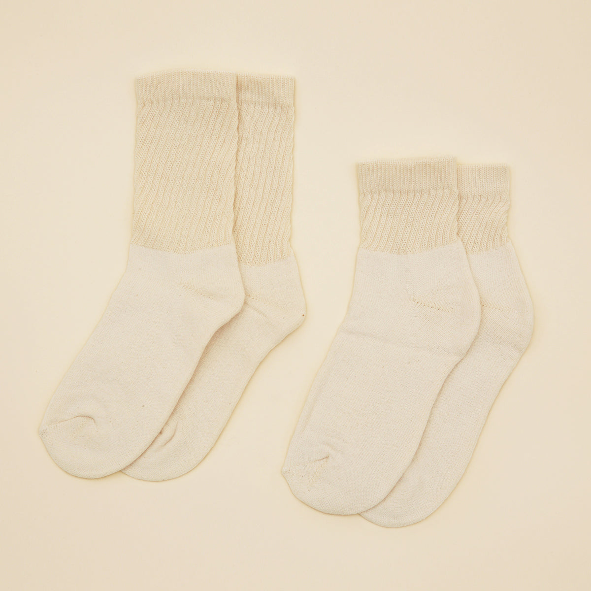Organic Cotton Socks - Cream