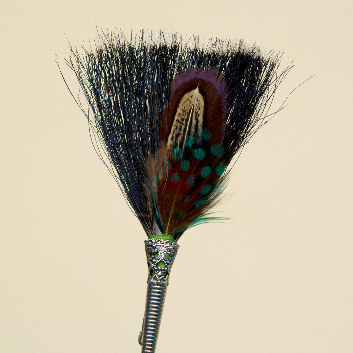 German Feather Pin