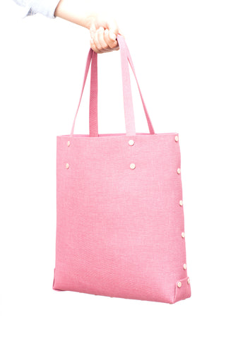 Asmbly Designer Handbags Shopper Tote in Pink PU